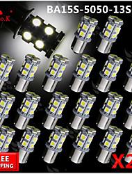 20x super luminoso ba15s blancos dirección trasero 1156 coche señal luminosa 13 LED 12V SMD