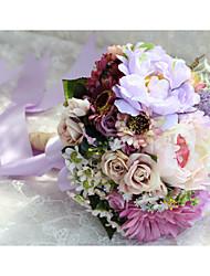 Fleurs de mariage Rond Pivoines Bouquets Mariage / Le Party / soirée Polyester / Satin Env.26cm