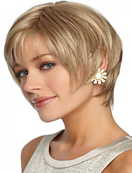 Blonde Short Straight  Hair Syntheic  Wig Best Quality