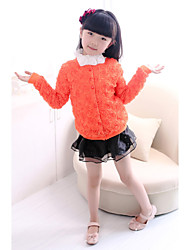 Girl's Orange / Pink Blouse,Floral Cotton / Polyester Summer / Fall / Spring