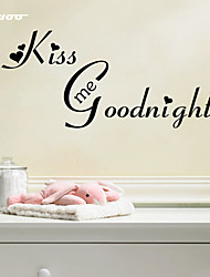 AWOO® New Pattern Kiss Me Goodnight Wall Sticker  Group On Behalf Of English customization