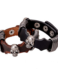 Steel Wire Wrap Skeleton Leather Bracelets