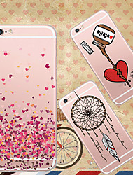 maycari®happiness'approaching doux retour tpu étui transparent pour iphone 6s 6 plus