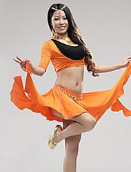 Roupa ( Preto / Fúcsia / Verde / Laranja / Branco , Modal , Dança do Ventre ) - de Dança do Ventre - Mulheres