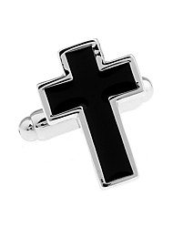 Christian black French shirt cufflinks cuff nail