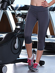 Laufen 3/4 Strumpfhosen / Unten Damen Ärmellos Atmungsaktiv / Videokompression Elastan / Tactel Yoga Königin Yoga Sportbekleidung Dehnbar