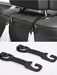ZIQIAO® 2pcs Multipurpose Portable Car Back Seat Headrest Hanger Holder Hooks For Bag Purse Cloth Grocer