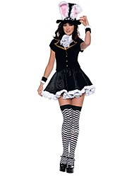 Cosplay Costumes Animal / Fairytale Movie Cosplay Black Patchwork Top / Skirt / Gloves / Scarf / Hat Halloween / Christmas / New Year