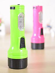 lampe de poche lampe de charge de six à domicile lumière extérieure conduit des lampes de poche, lampe de poche en plastique