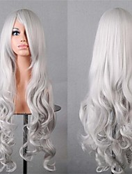 Beauty Product Cosplay Wigs Fasion Full Synthetic Wigs Long Hair 80 cm Gray Color