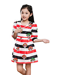 Robe Fille de Eté Polyester Multicolore