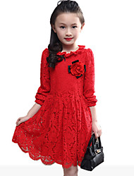 Girl's Black / Pink / Red Dress,Jacquard Rayon Spring / Fall
