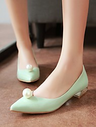 Women's Spring / Summer / Fall Pointed Toe Leatherette Outdoor / Office & Career / Casual Low Heel Pearl Green / Silver / Gray