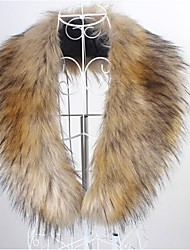 Fur Wraps Fur Accessories Faux Leather Collars Sleeveless Faux Fur Black Brown White Party/Evening Casual Shawl Collar Hidden Clasp