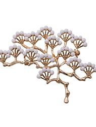 mujeres de la moda de moda de la perla Conjunto del árbol de pino de metal broche