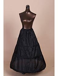 Unterhosen A-Linie Abendkleid Wadenlänge 1 Tülle Polyester Schwarz