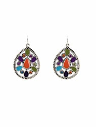 Fashion Women Vintage Enamel Drop Earrings