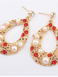 MISSING U Vintage / Party Alloy / Gemstone & Crystal / Cubic Zirconia / Imitation Pearl Drop Earrings