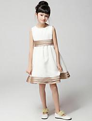 Robe Fille de Toutes les Saisons Rayonne Blanc
