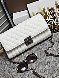 Women PU Tote White / Black