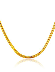 18K Gold Plated & Platinum Jewelry Wholesale Unique Snake Chain Necklace Gift Jewelry N50115