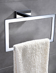 HPB® Contemporary Chrome Finish Brass Wall Mounted Towel Ring
