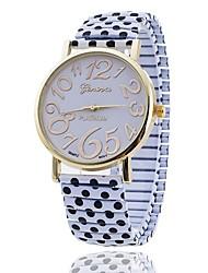 moda femminile Xu ™ dot orologio al quarzo tensione della cinghia in acciaio