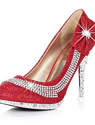Women's Shoes Synthetic Stiletto Heel Heels Heels Wedding / Party & Evening / Dress Red / Gold/3361-9