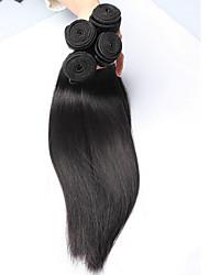 3pcs viel 8-26 Zoll unverarbeitete peruanisches reines Haar natürliche schwarze Farbe silk gerade Menschenhaar-Webart