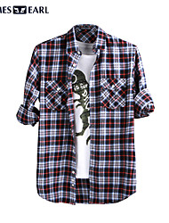 JamesEarl Men's Shirt Collar Long Sleeve Shirt & Blouse Red - M61XC001401