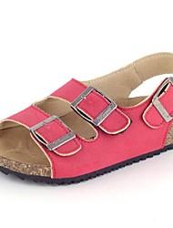 MädchenOutddor / Lässig-Kunstleder-Flacher Absatz-Komfort / Vorne offener Schuh / Sandalen-Mehrfarbig