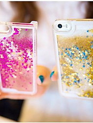 Fun Glitter Star Liquid Back Quicksand Transparent Clear PC Hard Cover For iPhone 5C