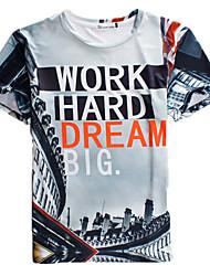 Herren Freizeit / Sport T-Shirt  -  Druck Kurz Polyester