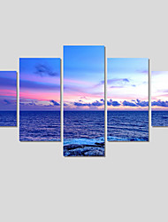 (No Frame)5 Piece Blue Ocean Modern Home Wall Decor Canvas Art Picture HD Print Painting On Canvas Painting On The Wall