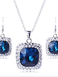 Collar / Pendiente (Baño en Oro / Latón / Piedra Preciosa y Cristal / Zirconia Cúbica)- Bonito / Fiesta para Mujer
