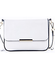 Women Cowhide Shoulder Bag White / Blue / Black