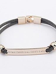 European Style Elegant Where there's a will there's a way Bracelet(Random Color)