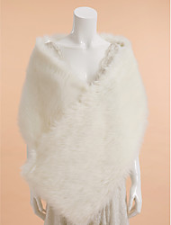 Wedding / Party/Evening Faux Fur / Feather/Fur Shawls Sleeveless Wedding  Wraps / Fur Accessories