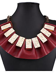 MPL  The new fashion leather sector short box all-match exaggerated clavicle chain
