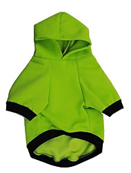 Dog Hoodie Dog Clothes Casual/Daily Letter & Number Green White
