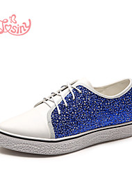 Women's Shoes Low Heel Pointed Toe Oxfords Casual Blue / Gray