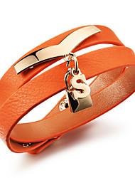 Rose Gold Plated Adjustable Leather Bracelet