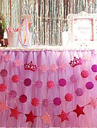 7cm Width 3M Length Paper Round Shape DIY Banner EVA Shimmering Powder  Confetti (27pcs Round Paper+1 Rope)