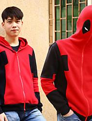 Mannelijk Zwart / Rood - Cosplay - Cosplay Kostuums - met Mantel
