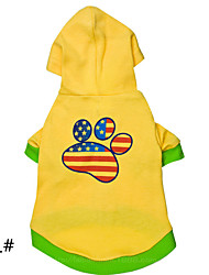 Dog Hoodie Yellow Winter Fashion