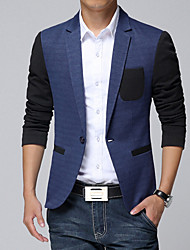 Men's Fashion High Quality Solid One-Buckle Slim Fit Suit