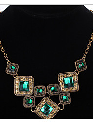 MPL Europe and the United States retro luxury geometric square Necklace