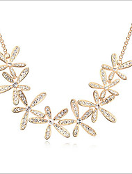 Lucky Doll Women's All Matching Zirconia Flower Necklace