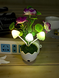 Valentine'S Day Gift Cartoon Light-Operated Flower Vase Dream Mushroom Plum Blossom Table Lamp Light Led