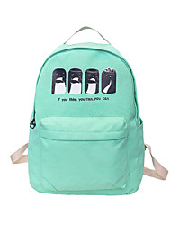 Unisex Canvas Bucket Backpack Sports Leisure Bag Laptop Bag School Bag Travel Bag Beige Blue Green Red Black